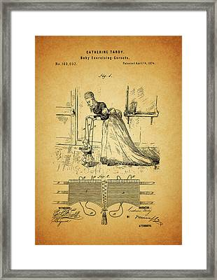 1874 Baby Exercising Corset Framed Print by Dan Sproul