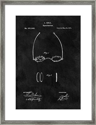 1875 Spectacles Patent Framed Print by Dan Sproul