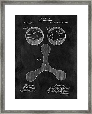 1876 Baseball Drawing Patent Framed Print