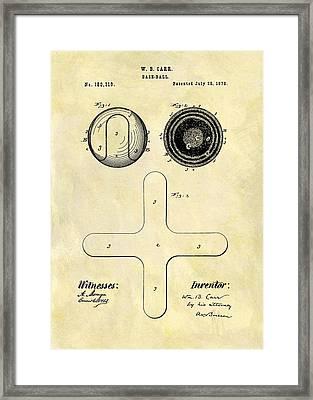1876 Baseball Patent Framed Print