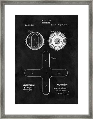 1876 Baseball Patent Illustration Framed Print