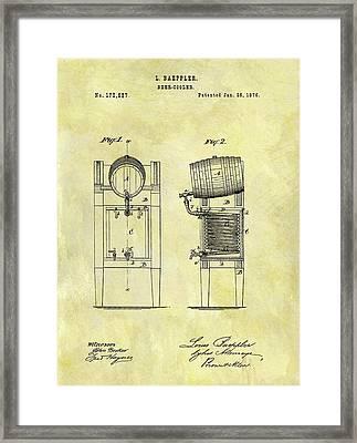 1876 Beer Cooler Patent Framed Print
