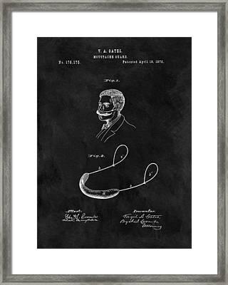 1876 Mustache Guard Framed Print