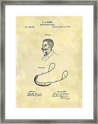 1876 Mustache Guard Patent Framed Print