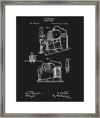 1877 Beer Pump Patent Framed Print