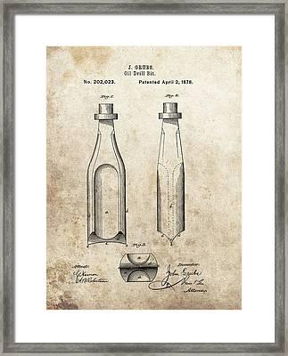 1877 Oil Drill Bit Patent Framed Print