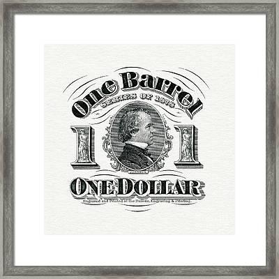 1878 Beer Barrel Tax Stamp Framed Print