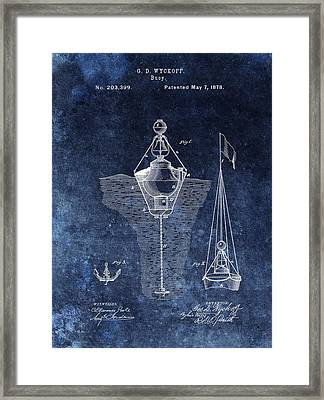 1878 Buoy Patent Framed Print by Dan Sproul