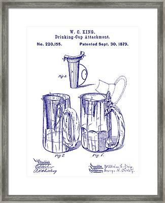 1879 Beer Mug Patent Blueprint Framed Print