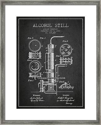 1880 Alcohol Still Patent Fb81_cg Framed Print by Aged Pixel