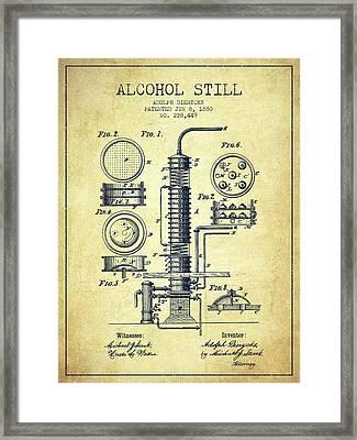 1880 Alcohol Still Patent Fb81_vn Framed Print by Aged Pixel