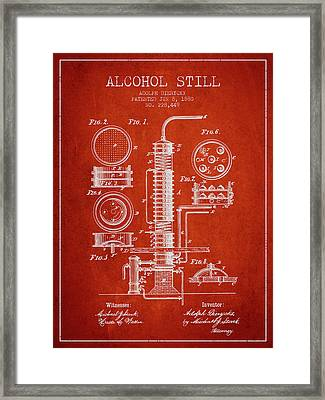 1880 Alcohol Still Patent Fb81_vr Framed Print by Aged Pixel