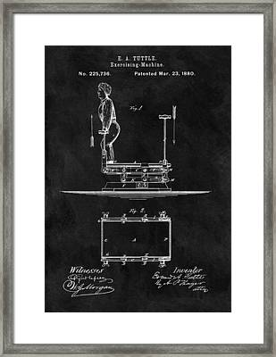 1880 Exercise Apparatus Patent Illustration Framed Print by Dan Sproul