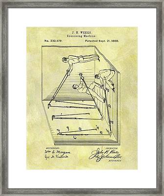 1880 Exercise Machine Framed Print by Dan Sproul