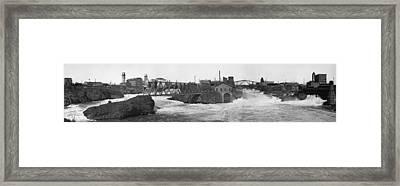 1880 Spokane Falls Washington Framed Print