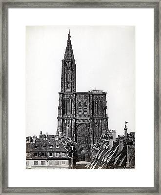 1880 Stasbourg Cathedral Alsace France Framed Print by Historic Image