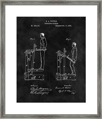 1881 Exercise Machine Illustration Framed Print by Dan Sproul