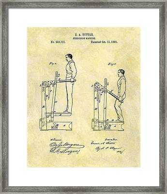 1881 Exercising Machine Patent Framed Print by Dan Sproul