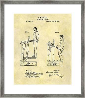 1881 Exercising Machine Patent Framed Print