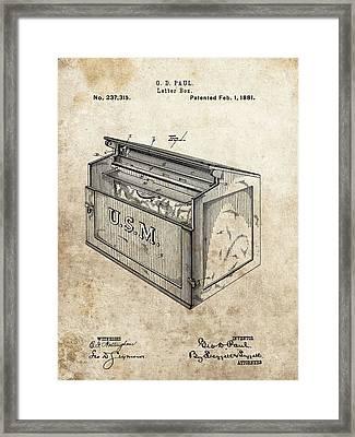 1881 Mailbox Patent Framed Print