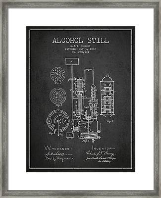 1882 Alcohol Still Patent Fb80_cg Framed Print by Aged Pixel