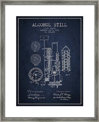 1882 Alcohol Still Patent Fb80_nb Framed Print by Aged Pixel