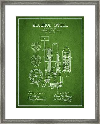 1882 Alcohol Still Patent Fb80_pg Framed Print by Aged Pixel