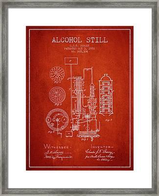 1882 Alcohol Still Patent Fb80_vr Framed Print by Aged Pixel