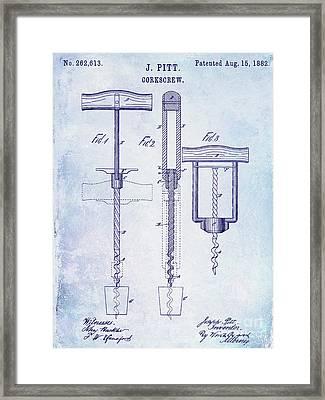 1882 Corkscrew Patent Framed Print