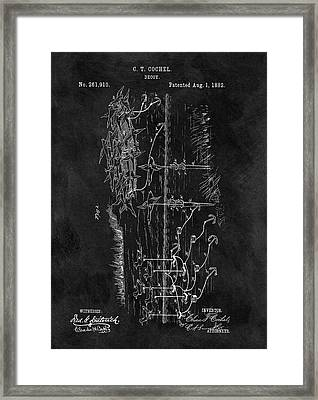 1882 Duck Decoy Patent Framed Print
