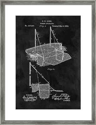 1882 Fishnet Patent Framed Print by Dan Sproul