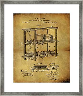 1882 Whiskey Barrel Rack Framed Print by Dan Sproul