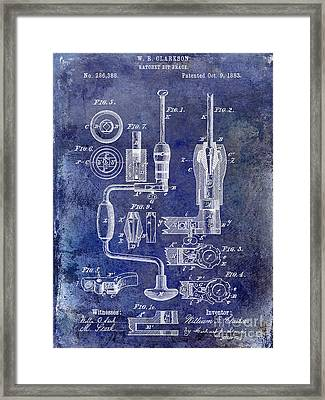 1883 Drill Patent Blue Framed Print