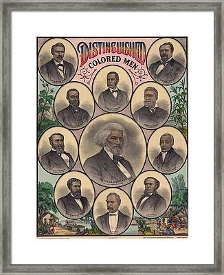 1883 Print Commemorating Framed Print