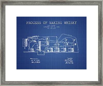 1883 Process Of Making Whisky Patent Fb76_bp Framed Print