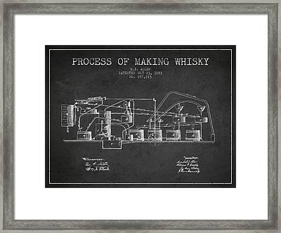 1883 Process Of Making Whisky Patent Fb76_cg Framed Print by Aged Pixel