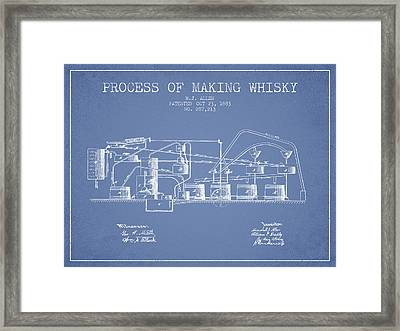 1883 Process Of Making Whisky Patent Fb76_lb Framed Print by Aged Pixel
