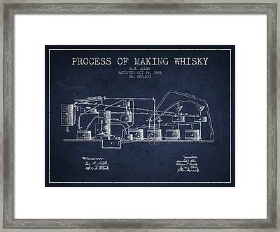 1883 Process Of Making Whisky Patent Fb76_nb Framed Print by Aged Pixel