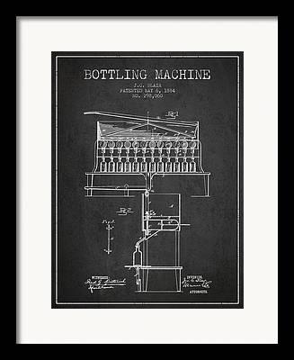 Bottle. Bottling Drawings Framed Prints