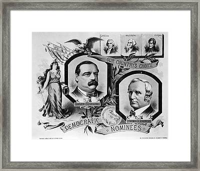 1884 Campaign Banner Framed Print by Underwood Archives