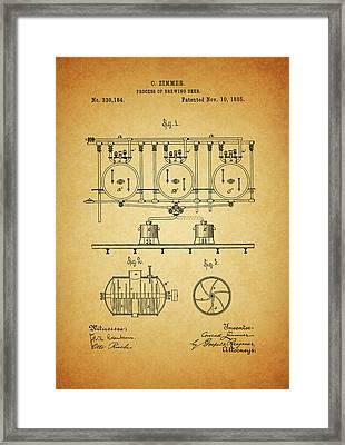 1885 Beer Brewing Method Framed Print