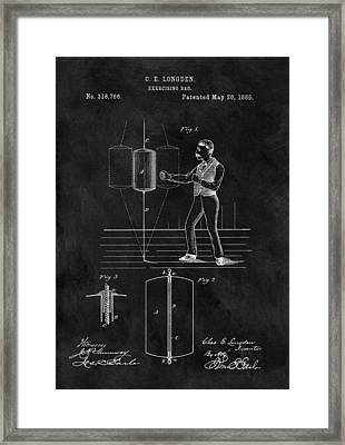 1885 Boxing Bag Patent Framed Print by Dan Sproul