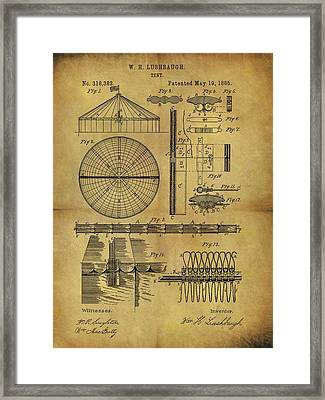 1885 Circus Tent Framed Print by Dan Sproul
