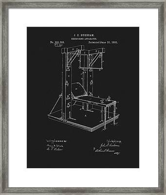 1885 Exercise Apparatus Equipment Framed Print by Dan Sproul