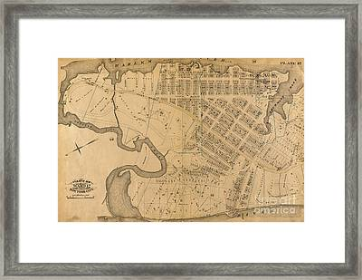 Framed Print featuring the photograph 1885 Inwood Map  by Cole Thompson