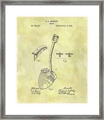 1885 Shovel Patent Framed Print by Dan Sproul