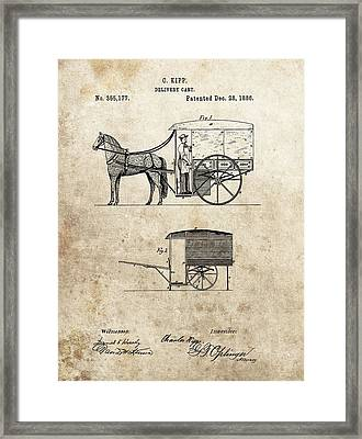 1886 Delivery Cart Patent Framed Print