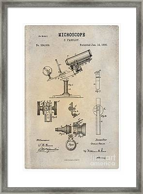 1886 Microscope Patent Art Fasoldt 1 Framed Print by Nishanth Gopinathan