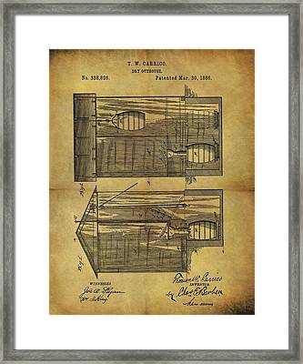 1886 Outhouse Patent Framed Print
