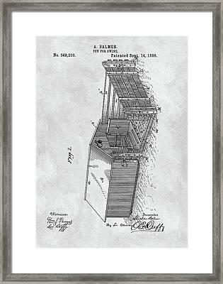 1886 Pigpen Patent Framed Print by Dan Sproul